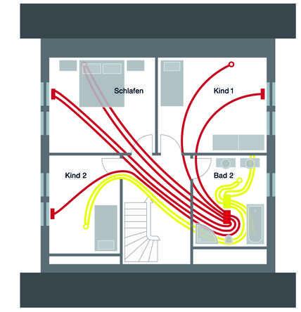 kompaktes einfamilienhaus zehnder group deutschland gmbh. Black Bedroom Furniture Sets. Home Design Ideas