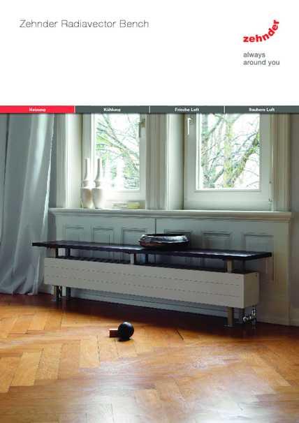 zehnder radiavector bench design heizk rper. Black Bedroom Furniture Sets. Home Design Ideas