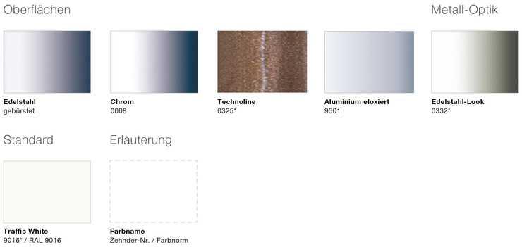 Farben & Oberflächen | Zehnder Group Deutschland GmbH
