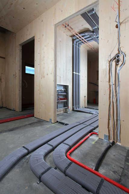 Es wurden insgesamt 150 Meter Luftleitungsrohre im Haus verlegt